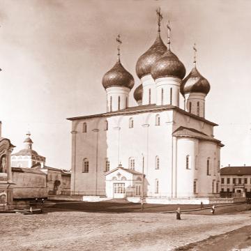 Софийский собор. Фото первой половины XX века из собрания ВГИАХМЗ (нв 5189-5)