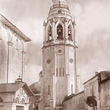 Соборная колокольня. Фото конца XIX века из собрания ВГИАХМЗ (нв 5189-4)