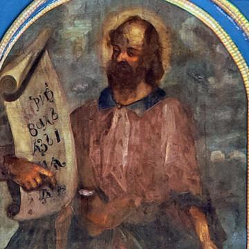 Праотец Енох. 247×126 см. Максим Искрицкий, 1736–1738 гг. (ВОКМ 16423/5)