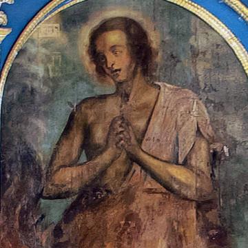 Праотец Авель. 247×127 см. Максим Искрицкий, 1736–1738 гг. (ВОКМ 16423/7)
