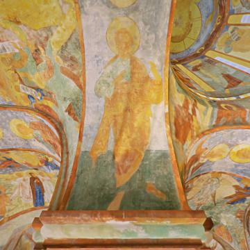 Апостол Варфоломей. Роспись западной части южной подпружной арки северо-западного барабана.