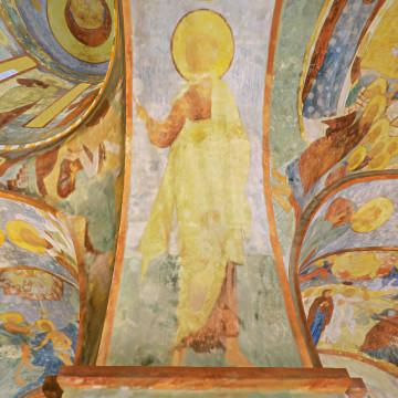 Апостол Матфий. Роспись западной части северной подпружной арки юго-западного барабана.