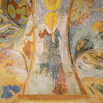 Апостол Сосипатр. Роспись южной части западной подпружной арки юго-западного барабана.