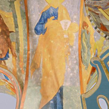 Апостол Пётр. Роспись восточной половины северной подпружной арки центрального барабана