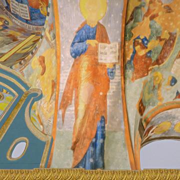 Апостол Павел. Роспись восточной части южной подпружной арки центрального барабана