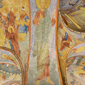 Апостол Симон. Роспись северной части западной подпружной арки центрального барабана